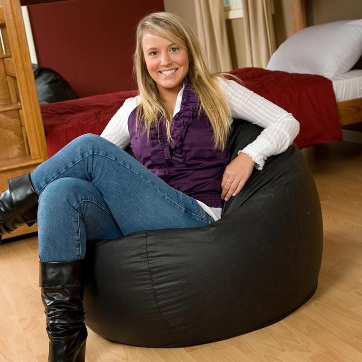 Large Vinyl Puck Bean Bag Chair For Newborn Posing