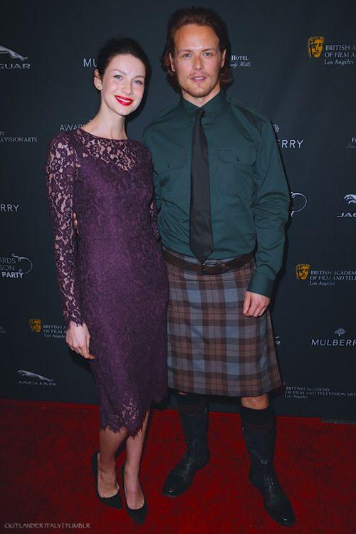 Sam Heughan & Caitriona Balfe at BAFTA 2014 in Los Angeles