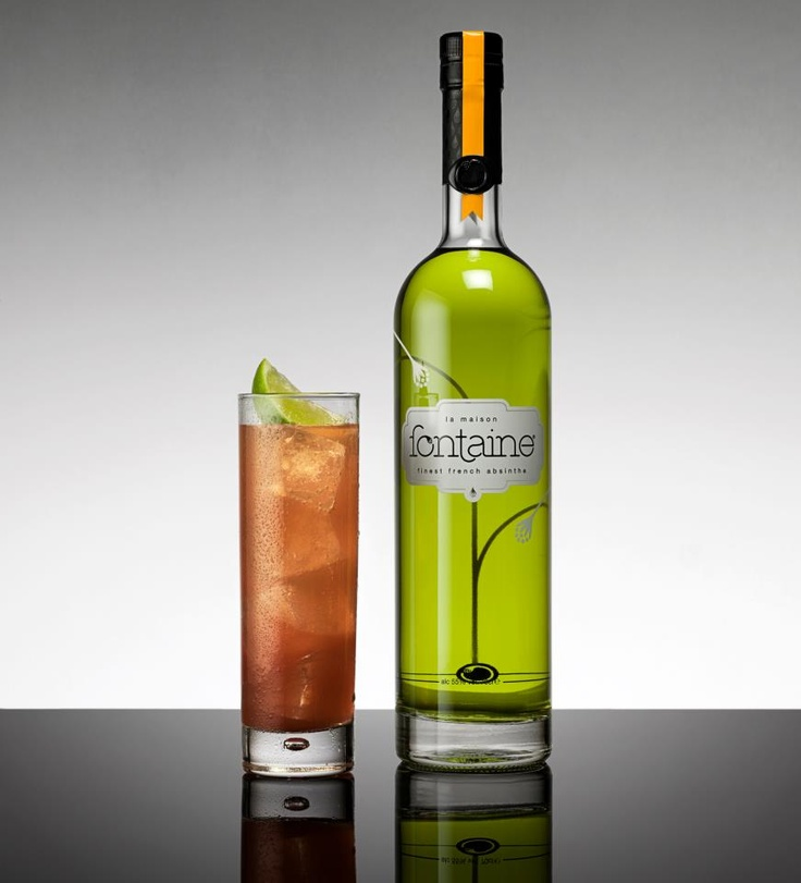 Meet the refreshing, crisp & moreish, Pomtarlier. The name is a twist on La Maison Fontaine's hometown Pontarlier.    35ml La Maison Fontaine Verte, 100ml pomegranate juice and 150ml soda water. Add all of these ingredients into a tall slender glass filled with cubed ice. Squeeze lime garnish over drink & serve, garnish with 1⁄4 lime wedge!