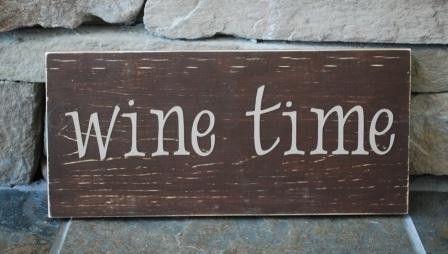 wine time sign for home bar wine bar friend by creativebyheidi, $15.00