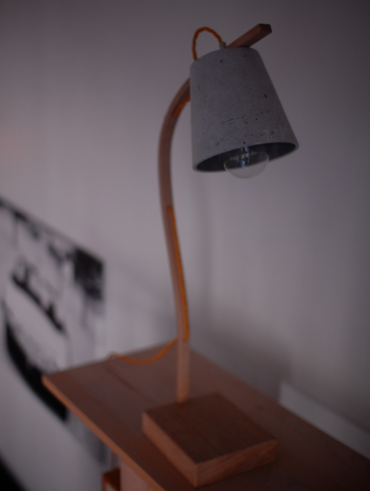Oak | Concrete lamp | NH oslo