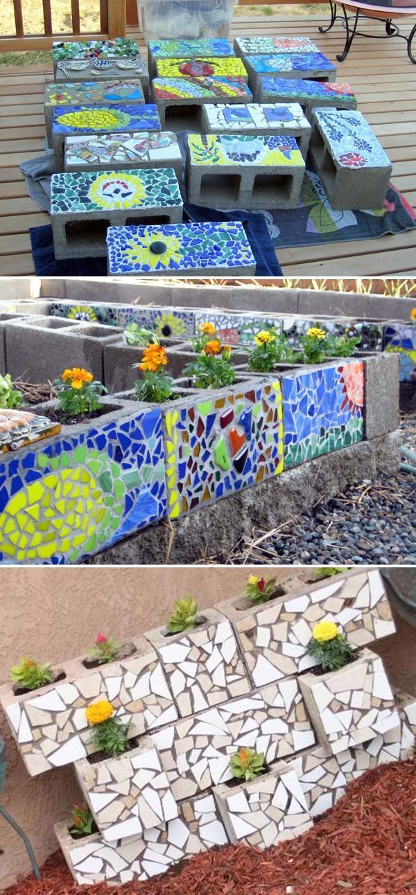 Einfache und süße DIY-Mosaikideen für Garten und Hof – Neue Einrichtungsideen…