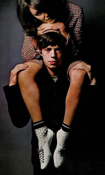 Chrissie Shrimpton Mick Jagger, 1960's:  by David Bailey, Vogue