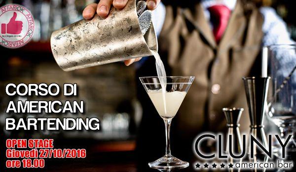 CORSO DI AMERICAN BARTENDING Al CLUNY http://affariok.blogspot.it/