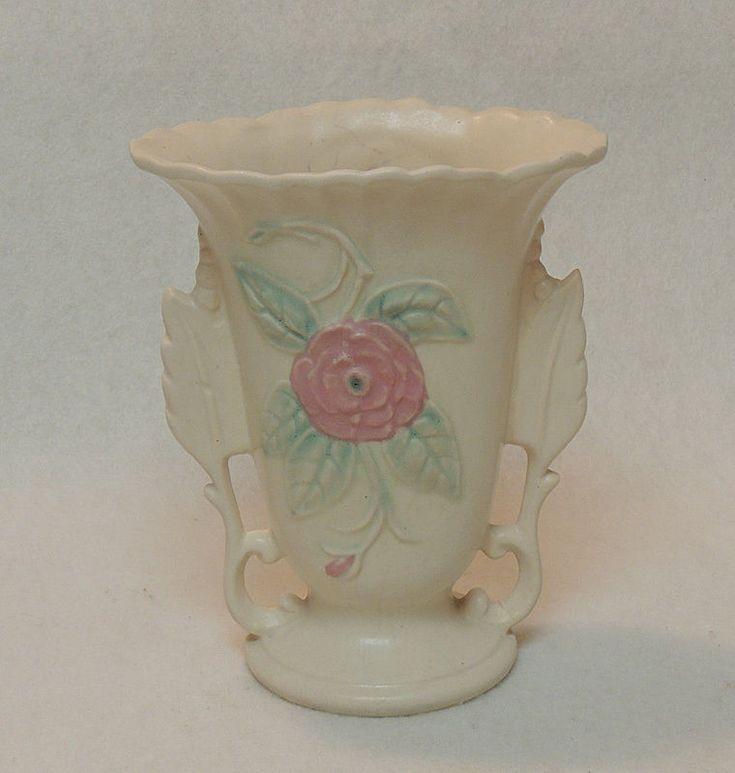 Vintage Hull Pottery USA  Open Rose Vase.. 138 - 6 1/4 Inch