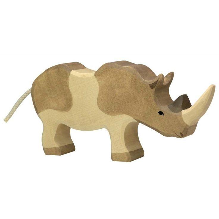 Wooden Rhinoceros Holztiger Toy | Worldwide shipping www.minizoo.com.au