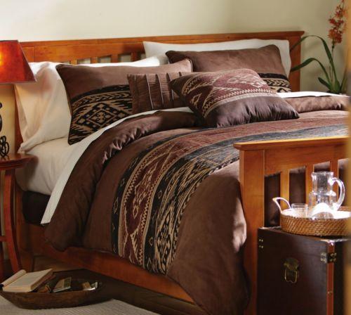 Southwestern Style King Size Comforter Set with Shams and Bedskirt New   eBay
