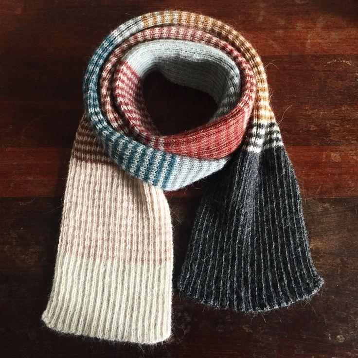 Som du måske har set på min instagram profil Pixendk HER har jeg de seneste dage strikket på et ribstrikket og stribet halstørklæde de...
