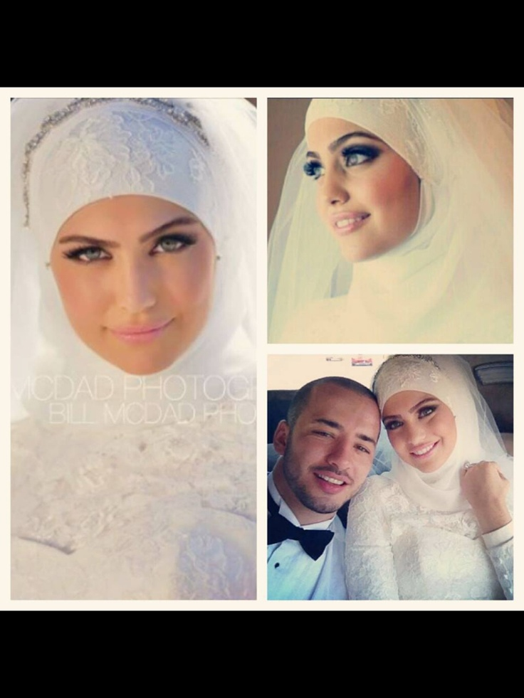 i like the bridal hijab.