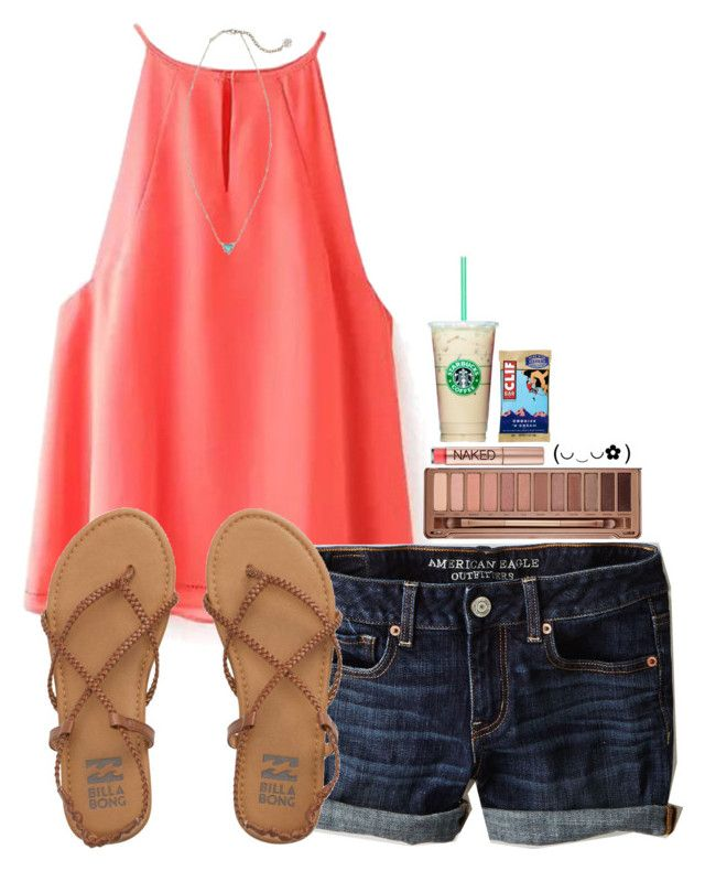 """~I'm only one call away~"" by simply-natalee ❤ liked on Polyvore featuring American Eagle Outfitters, Kendra Scott, Urban Decay and Billabong"