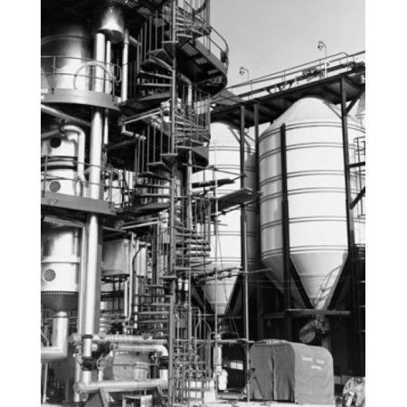 Spiral staircase in a chemical plant Canvas Art - (24 x 36)
