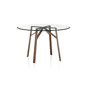 Belden Dining Table Mesa Redonda vidrio Createandbarrel