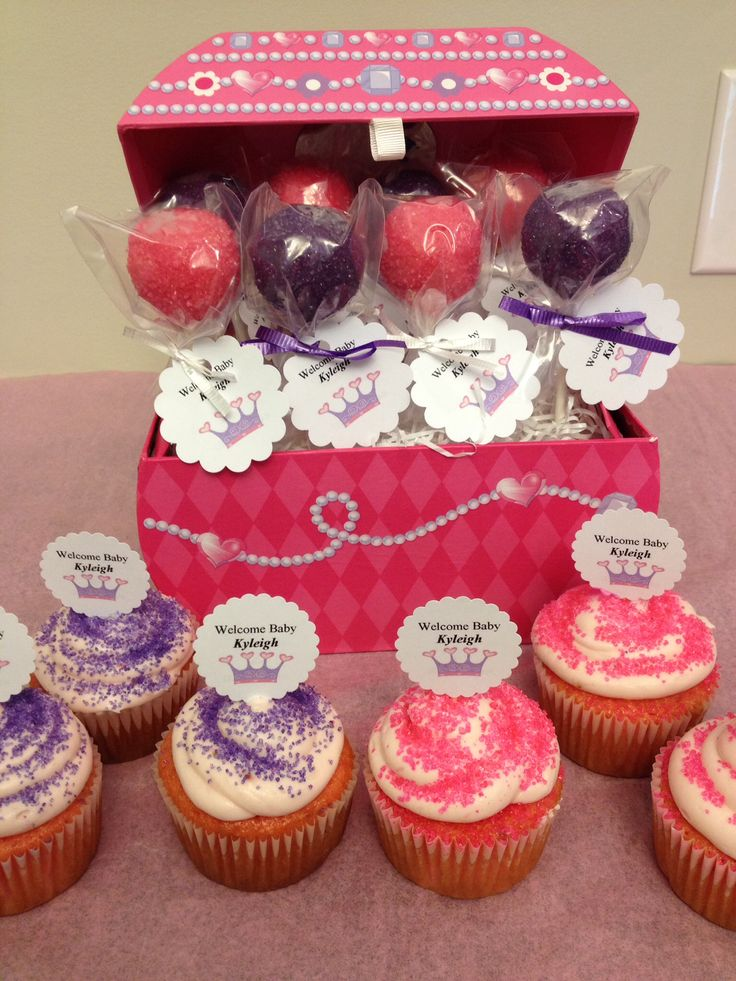 Princess cake pops in purple and pink