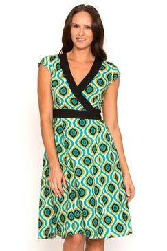 Wrap Dress Affro Green