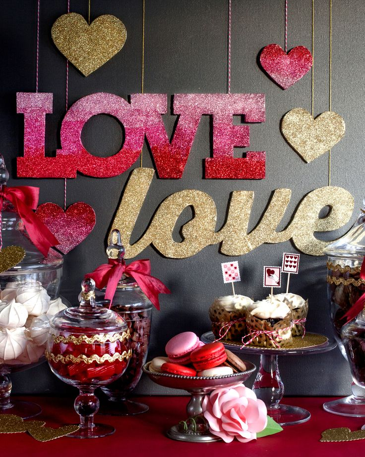 Show off your love the best way -- with a DIY project full of glitter.