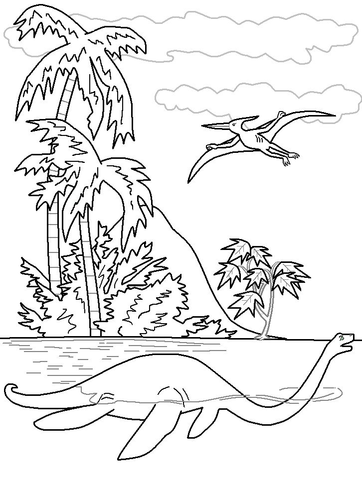 pictures dinosaur elasmosaurus coloring pages