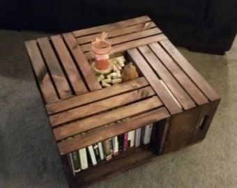 The 25 best Crate Coffee Tables ideas on Pinterest Wine crate