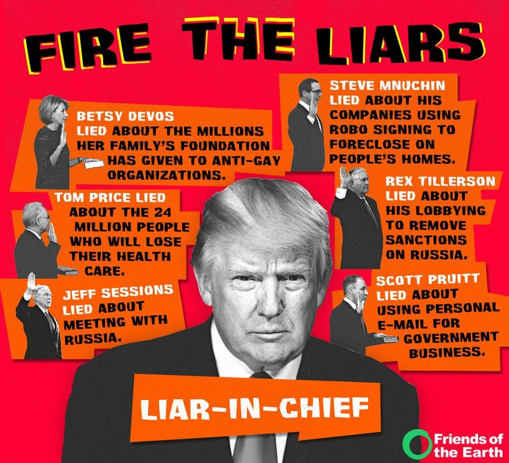 Trump and his cabinet all have one thing in common: They lie.   --   Friends of the Earth (@foe_us) | Twitter