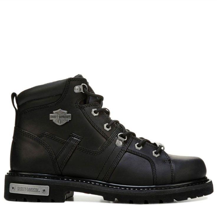 Harley Davidson Men's Ruskin Lace Up Boots (Black Leather)