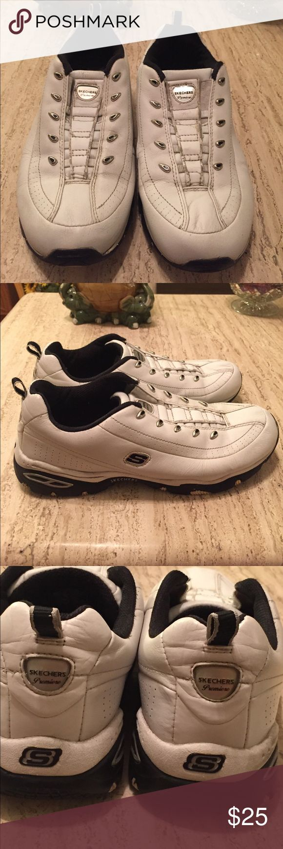 Sketchers Sneakers, size 9.5.  No Shoe Strings. Sketchers Sneakers, size 9.5.  No Shoe Strings needed, just slip on.  Very comfortable for walking and performing fitness exercise. In great condition, worn only once. Skechers Shoes Athletic Shoes