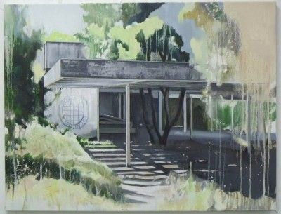 Ross M Brown - Pavillion  Lacey Contemporary Gallery Notting Hill London  Landscape Painting Architecture