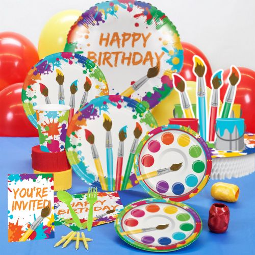Artist Deluxe Birthday Party Pack for 8 Party Supplies Canada - Open A Party