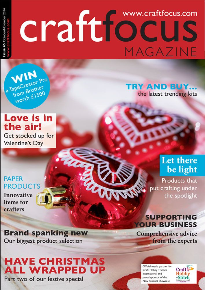 The October/November issue now available for free download - www.craftfocus.com. Thanks to edding for the lovely front cover image!