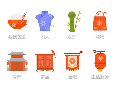 """The first attempt to draw a series of Icon.The use of Chinese elements """"plum, orchid, bamboo, chrysanthemum"""" and other elements, combined with electronic commerce app service, embody the Chinese Ne..."""