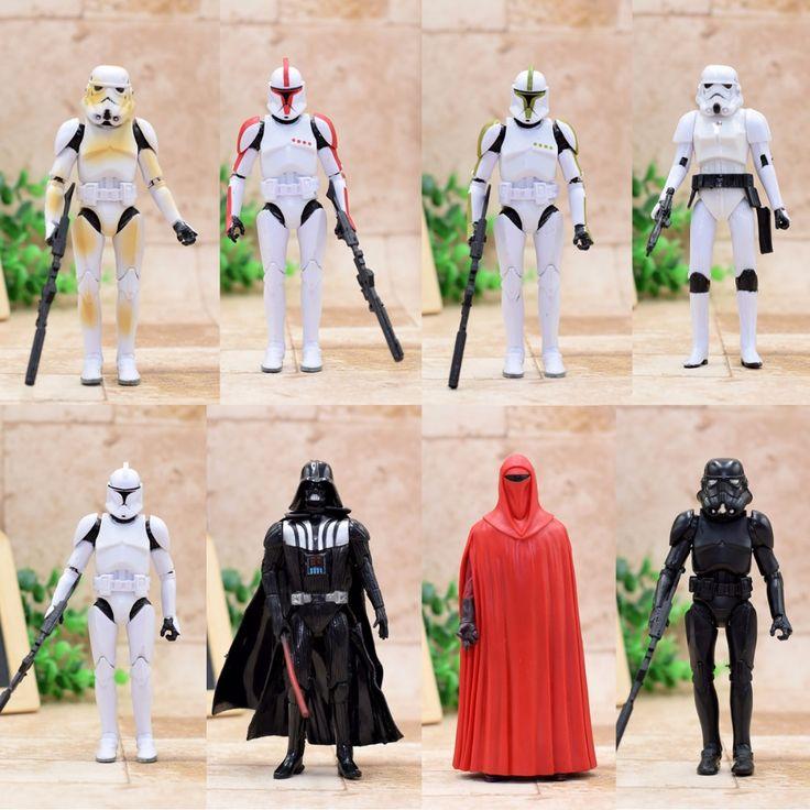 Star Wars Action Figure Stromtrooper Boba Fett Darth Vader Obi-Wan skywalker 16CM  Cool Movie Collection Toy Best Gift