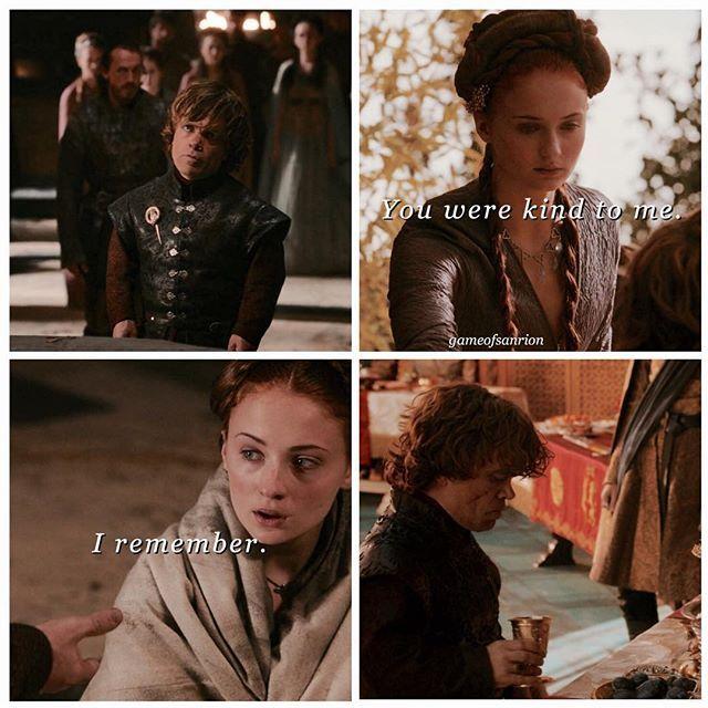 Sansa and Tyrion saving each other is my aesthetic. #sansastark #tyrionlannister #sanrion #gameofthrones #gameofthronesfamily