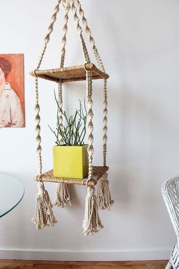 40 ideas para decorar con macram tapices l mparas - Tapices de macrame ...