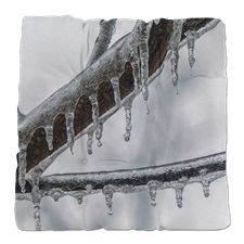 Icy Branch Tufted Chair Cushion
