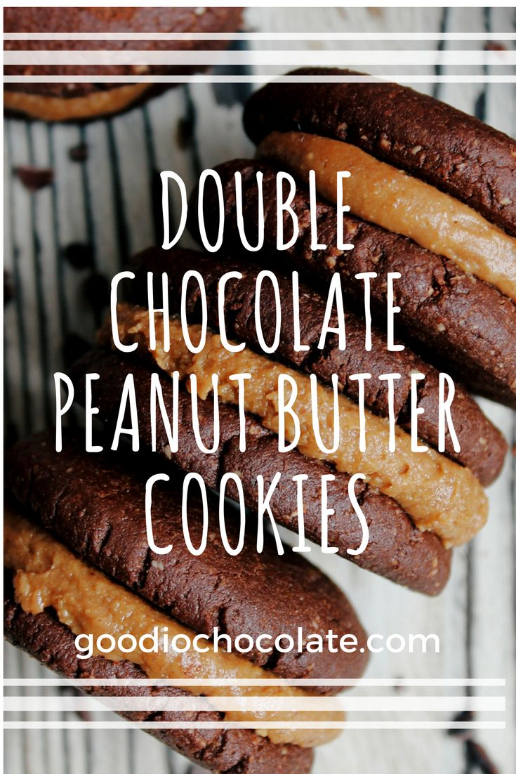 These double chocolate peanut butter cookies will totally satisfy any sweet craving. Click the link for the recipe!