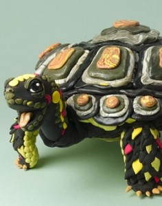 This is my next project, to make something similar to this beautiful model magic tortoise, I love him so!