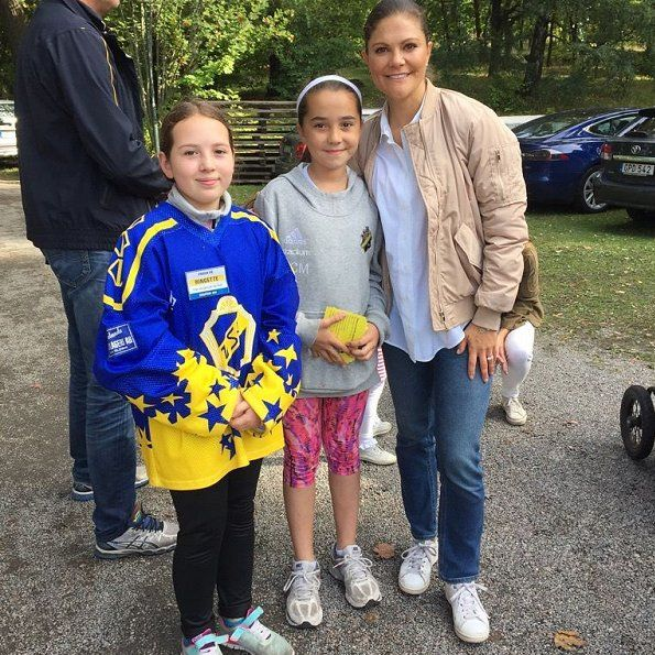 Princess Victoria and her children attended Sports Day