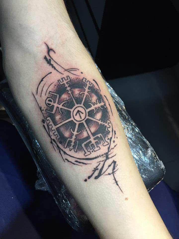 Vegvisir Tattoo Designs : vegvisir, tattoo, designs, Viking, Tattoos, Vegvisir, Compass, Tattoos,, Tattoo, Design
