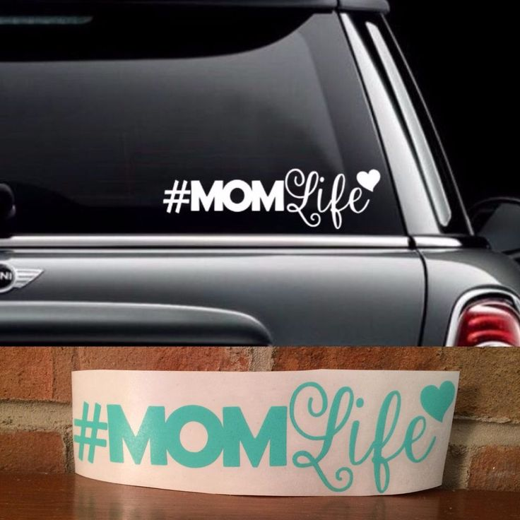 Momlife vinyl decal for car laptop ect