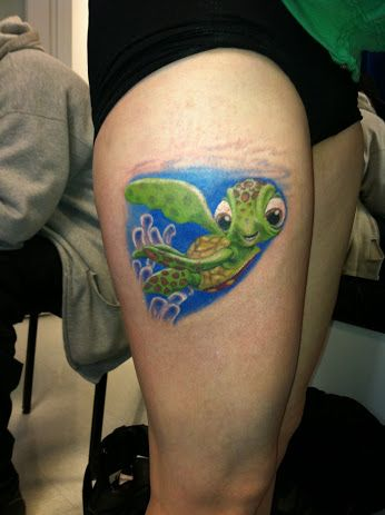 Cute turtle tattoo by Shawn Pierce at Skin Deep Tattoo and Body Piercing - Google+
