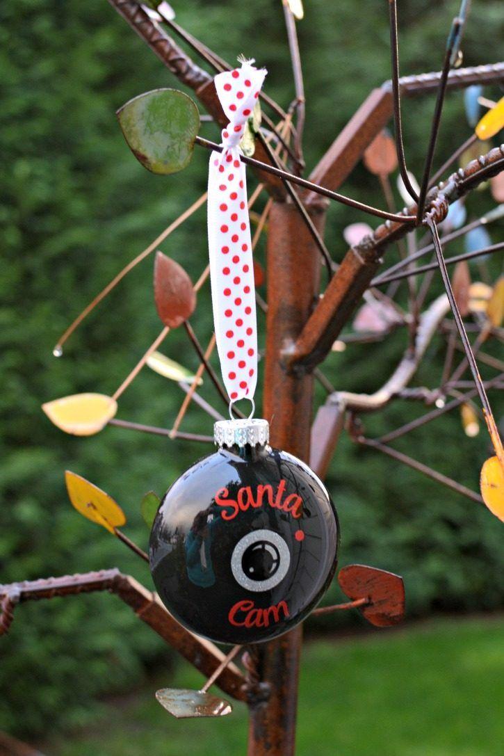DIY Santa Cam Ornament