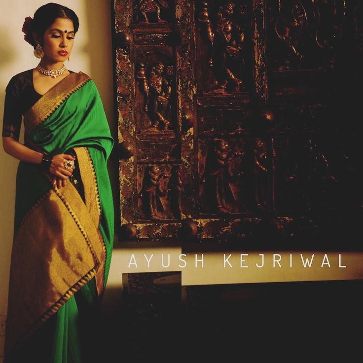 Introducing 'URJA' from the CHABEELI collection URJA stads for a powerful statement. It takes minimalism to a whole new level; the explosive emerald green base the lustre of the silk  the touch of gold and the unmissable boldness of the contrasting black blouse all add to its allure. The prime need for stye is to please and attract and URJA does that without even trying. For purchase enquires email me at ayushk@hotmail.co.uk or whats app me on 00447840384707. We ship WORLDWIDE…