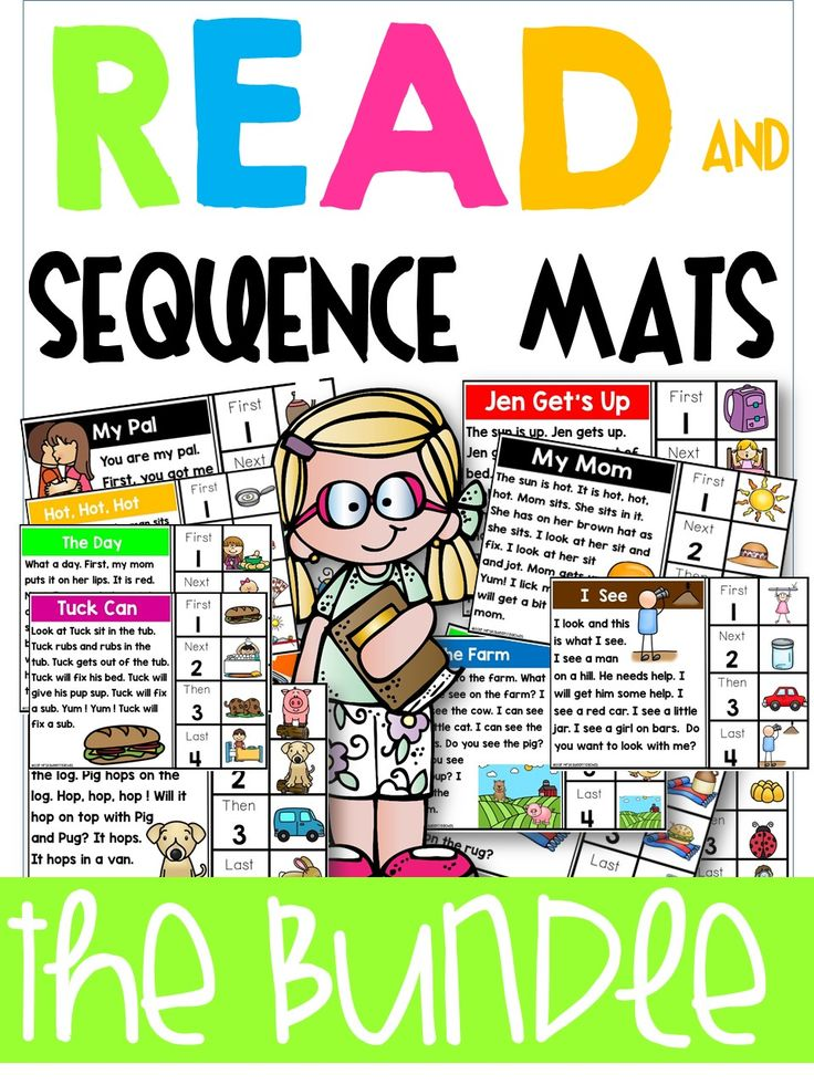 Sequencing, retelling, sequence of events lessons. These mats are perfect for teaching sequencing to readers and early readers. 60 fun sequencing mats for learning.