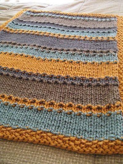 """""""groovy little baby blanket"""" pattern."""