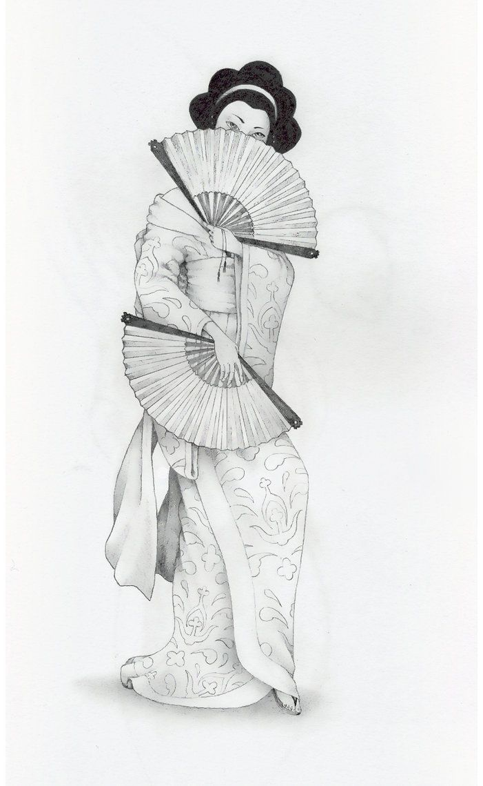 traditional geisha drawing - Google Search