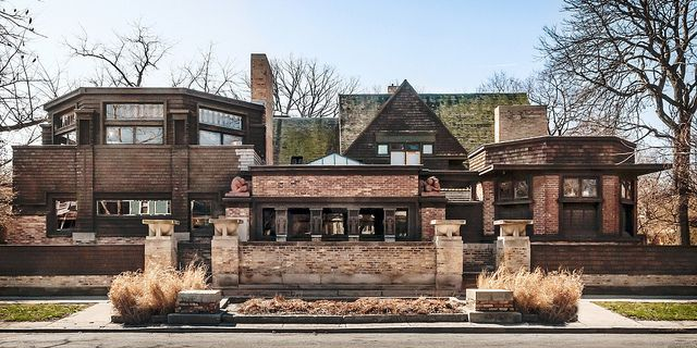 Frank Lloyd Wright's (1867-1959) house in Oak Park, a suburb of Chicago, is ground zero for his Prairie Style architecture. You can learn more about his work through the Frank Lloyd Wright Preservation Trust: http://www.gowright.org/ Thanks to lumierefl on Flickr!