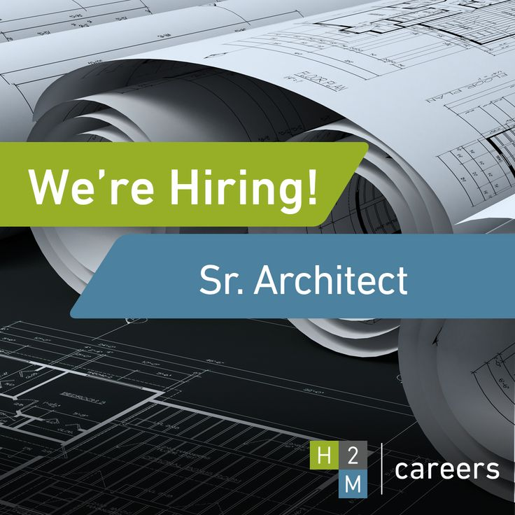 We're Hiring a Senior Architect with 10+ years of experience for our offices in Melville, Westchester, and Albany, NY.   Job Description: The ideal candidate will work on developing and executing architectural design work for both public and private clients. They will also coordinate the efforts of both in-house and outside teams who handle structural engineering, MEP design, civil engineering, and environmental engineering services.   For more information, please visit: www.h2m.com/Careers