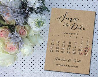 Wedding Save The Date DIY Printable Invitation Engagement