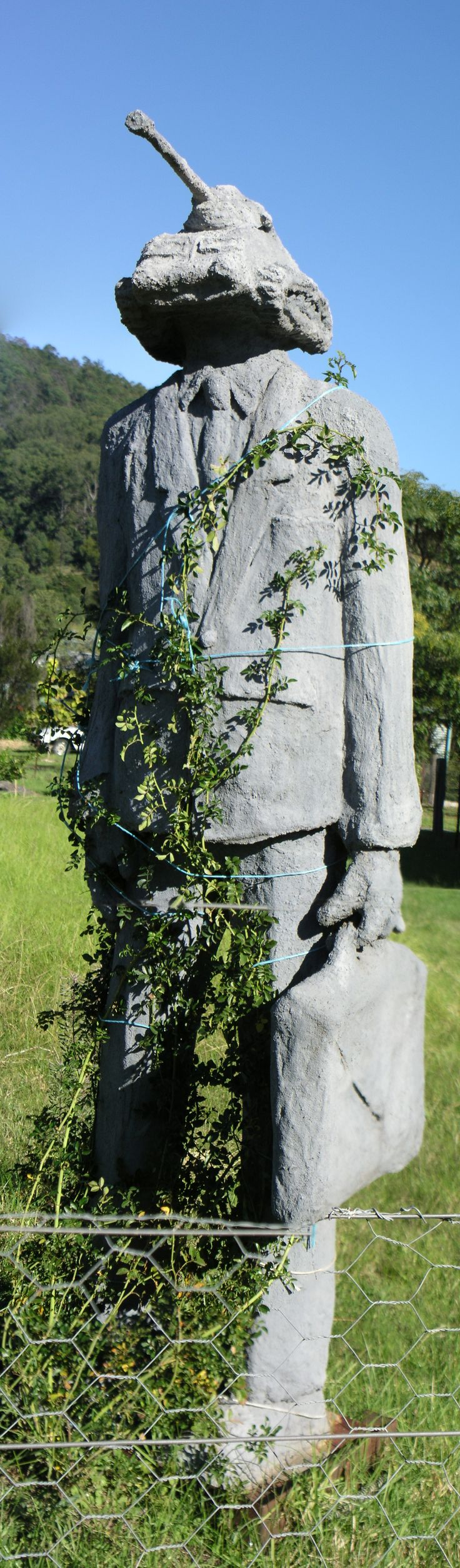 A sculpture in Cobargo, on the south coast of New South Wales, Australia