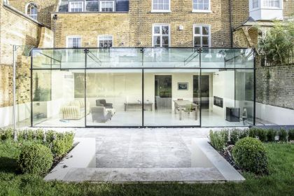 Glass extension dining room