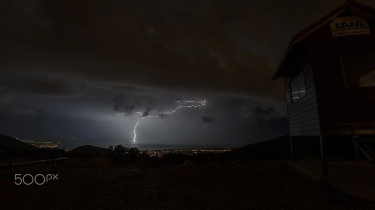 Bolt of lightning over Evia Download this photo at https://500px.com/photo/233083883/bolt-of-lightning-over-evia-by-thanasis-maikousis?ctx_page=1&from=user&user_id=682714 . . . . .  #landscape #sea #greece #clouds #cityscape #dark #seascape #lightning #long #exposure #weather #storm #thunder #bolt #athens #plasma #penteli #instalifo #instago #instaweather #pttlgr #photocontestgr