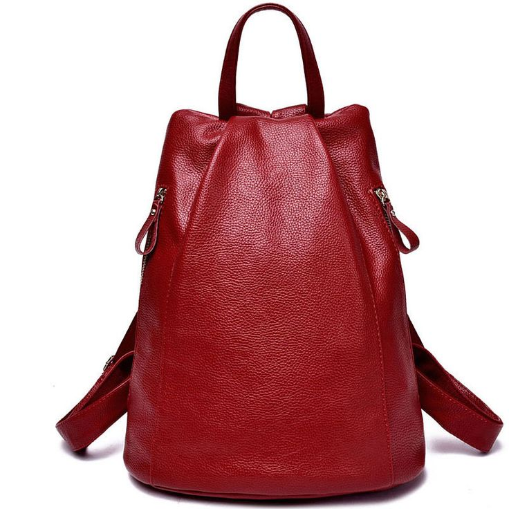 Women genuine leather backpacks for women vintage school bag for college girl travel bag teenager backpacks for Girls